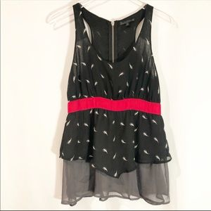 Lucca Couture Layered Tank Size Medium
